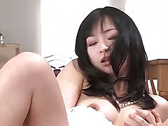 Nasty Nozomi Hatsuki fingers and toys her super fresh Japanese pussy until she cums