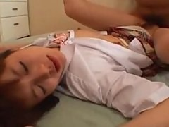 Cute Asian school girl fucked hard!