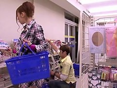 Naughty Asami Ogawa getting fucked in the shop