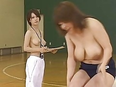Japanese doll is a sporty gal who enjoys nude