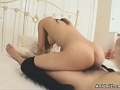 Busty japanese schoolgirl haruka sanada gets her pussy pounded