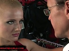 Shorthaired Sinead abused by hard cock